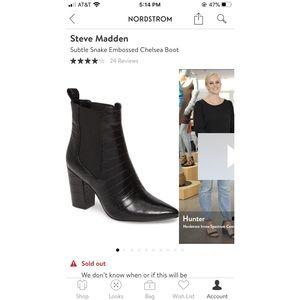 Steve Madden Subtle Snake Embossed Chelsea Boots